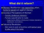what did it reform