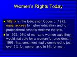 women s rights today