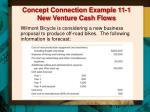 concept connection example 11 1 new venture cash flows