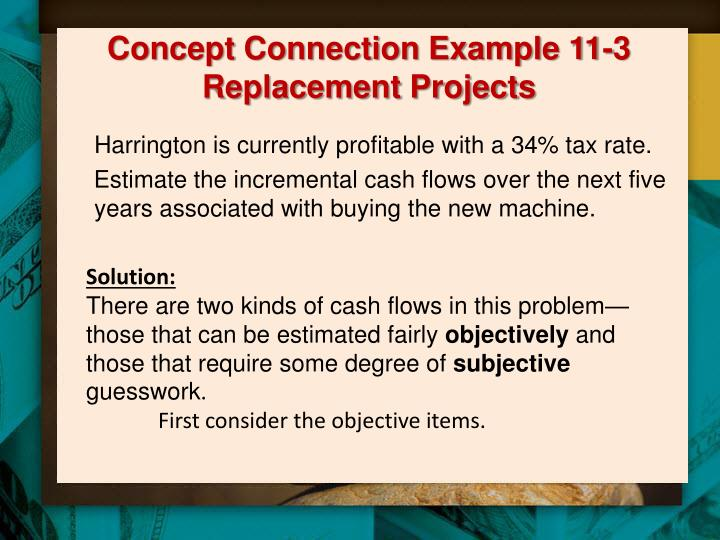Concept Connection Example 11-3 Replacement Projects
