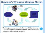 baddley s working memory model