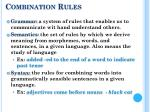 combination rules