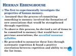 herman ebbinghouse