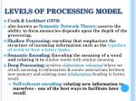 levels of processing model