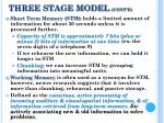 three stage model cont d
