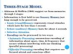 three stage model