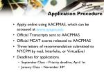 application procedure