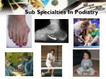 sub specialties in podiatry