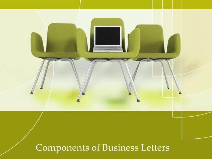components of business letters n.