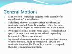 general motions