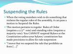 suspending the rules