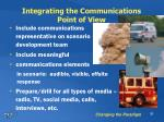 integrating the communications point of view