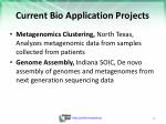 current bio application projects