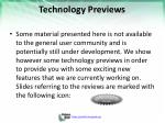 technology previews