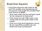 break even equation1