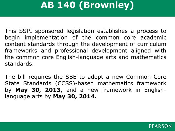 AB 140 (Brownley)