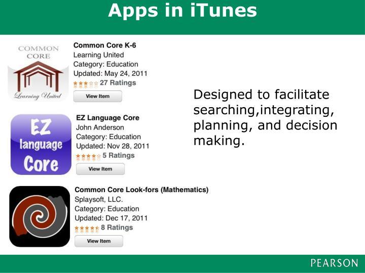Apps in iTunes
