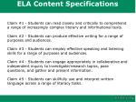 ela content specifications1