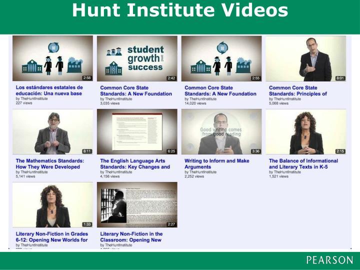 Hunt Institute Videos