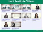 hunt institute videos1