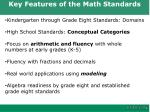 key features of the math standards