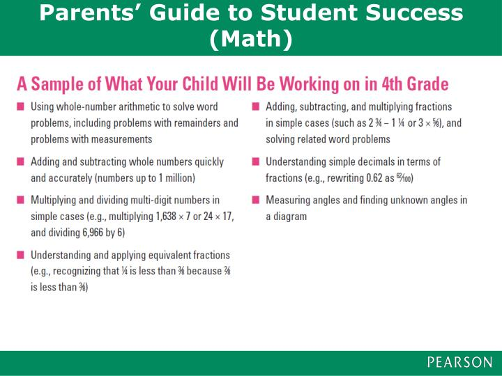 Parents' Guide to Student Success