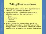 taking risks in business
