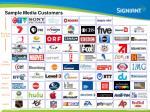 sample media customers