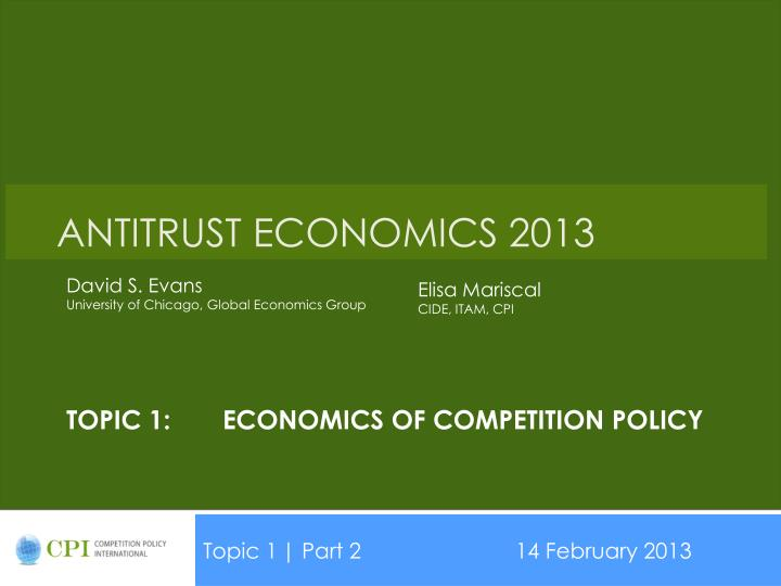 topic 1 economics of competition policy n.
