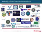 microstrategy customers in federal government include