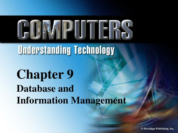 chapter 9 database information and management n.