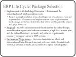 erp life cycle package selection5