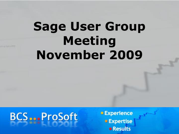 sage user group meeting november 2009 n.