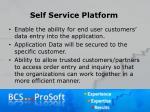 self service platform