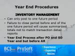 year end procedures8