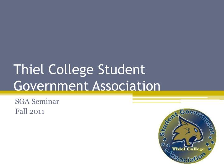 thiel college student government association n.