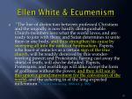 ellen white ecumenism