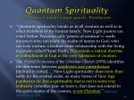 quantum spirituality in leonard sweet s own words pantheism1