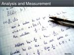 analysis and measurement