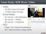 case study b2b music video