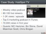 case study hubspot tv