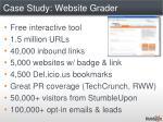 case study website grader