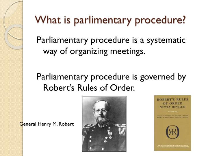 what is parlimentary procedure n.