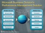 microsoft business division s performance management solution