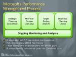 microsoft s performance management process