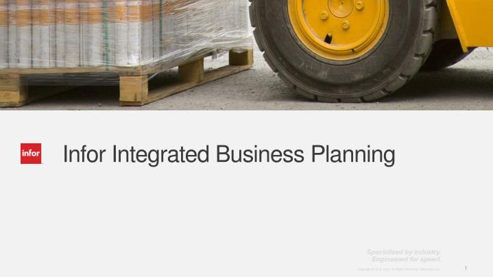 infor integrated business planning n.