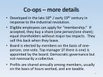 co ops more details
