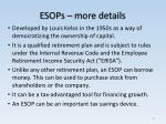 esops more details