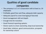 qualities of good candidate companies