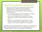 i want to submit a proposal